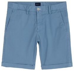 Gant Regular Sunbleached Bermuda Midden Blauw Melange