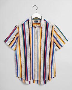 Gant Relaxed Bold Stripe Short Sleeve Overhemd Multicolor