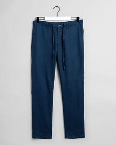 Gant Relaxed Linen Drawstring Pant Broek Insignia Blue