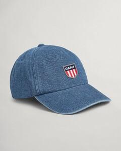 Gant Retro Shield Denim Cap Cap Semi Light Blue Broken In