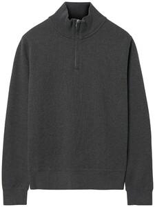 Gant Rib Half Zip Pullover Anthracite Melange