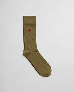 Gant Rib Sock Sokken Olijf Groen