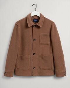 Gant Short Wool Jacket Coat Roasted Walnut