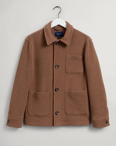 Gant Short Wool Jacket Jas Roasted Walnut
