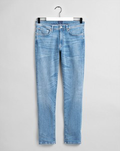 Gant Slim Active Recover Jeans Jeans Light Blue Worn In