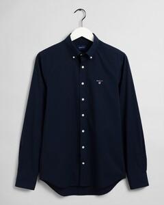 Gant Slim Broadcloth Uni Overhemd Marine