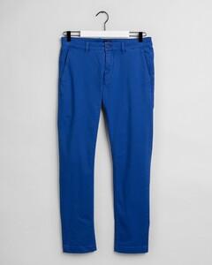 Gant Slim Light Canvas Chino Broek College Blue
