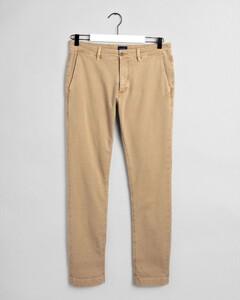 Gant Slim Light Canvas Chino Pants Sand