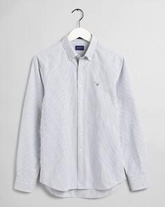 Gant Slim Oxford Banker Stripe Shirt Persian Blue