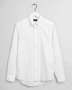 Gant Slim Pinpoint Oxford Button Down Shirt White