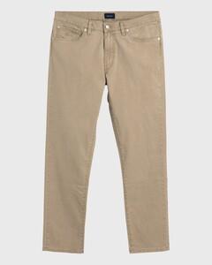 Gant Slim Straight Dusty Twill Jeans Jeans Donker Khaki