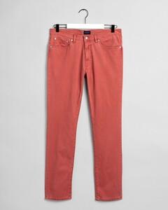 Gant Slim Straight Dusty Twill Jeans Jeans Redwood