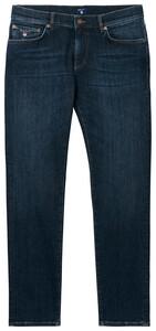 Gant Slim Straight Jeans Jeans Dark Blue Worn In
