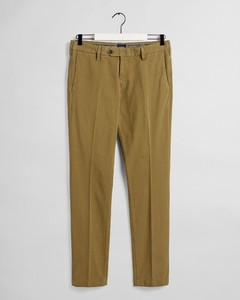 Gant Slim Structure Chino Pants Olive Green