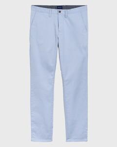 Gant Slim Twill Chino Broek Hamptons Blue