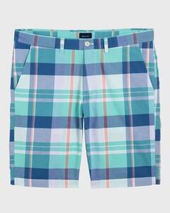 Gant Stripe-Check Bermuda Bermuda Pool Green