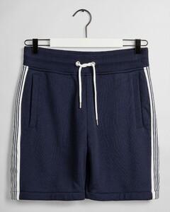 Gant Stripe Sweat Shorts Nachtmode Avond Blauw