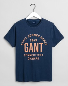 Gant Summer Graphic T-Shirt Insignia Blue