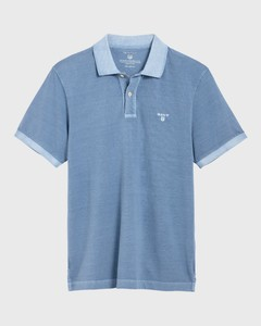 Gant Sunbleached Piqué Rugger Polo Light Blue Worn In