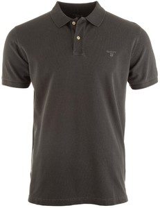 Gant Sunbleached Piqué Rugger Poloshirt Dark Graphite