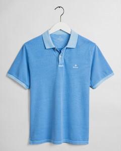 Gant Sunbleached Piqué Rugger Poloshirt Pacific Blue