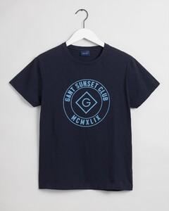 Gant Sunset Club Short Sleeve T-Shirt Avond Blauw