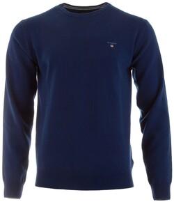 Gant Super Fine Lambswool Pullover Trui College Blue