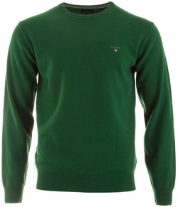 Gant Super Fine Lambswool Pullover Trui Kelly Green