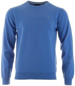 Gant Super Fine Lambswool Pullover Trui Pacific Blue