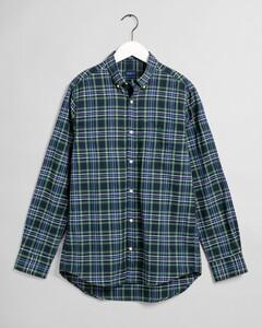 Gant Tech Prep Check Overhemd Bladgroen