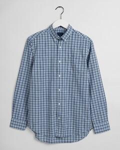 Gant Tech Prep Indigo Check Overhemd Capri Blue