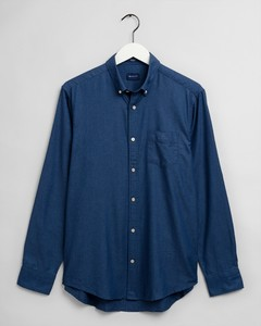 Gant Tech Prep Indigo Dobby Button Down Overhemd Donker Indigo