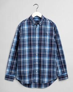 Gant Tech Prep Indigo Madras Overhemd Pacific Blue