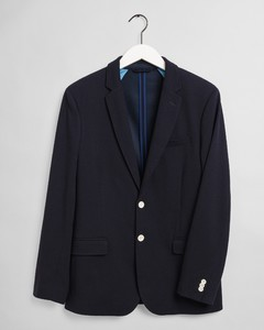 Gant Tech Prep Jersey Pique Blazer Colbert Avond Blauw