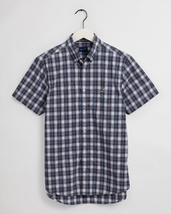 Gant Tech Prep Multi Check Short Sleeve Overhemd Salty Sea
