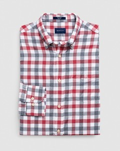 Gant Tech Prep Oxford Heather Gingham Overhemd Bright Red