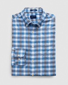 Gant Tech Prep Oxford Heather Gingham Overhemd Pacific Blue