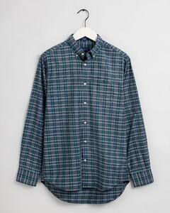 Gant Tech Prep Oxford Indigo Check Overhemd Bladgroen