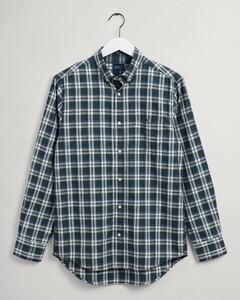 Gant Tech Prep Oxford Indigo Check Overhemd Groen