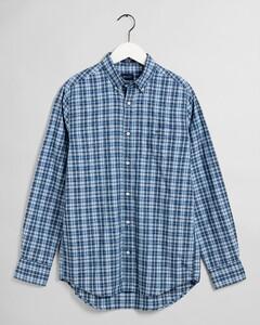 Gant Tech Prep Oxford Indigo Check Overhemd Pacific Blue