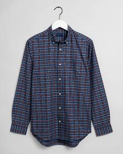 Gant Tech Prep Oxford Indigo Check Overhemd Port Red