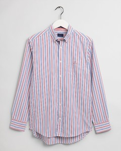 Gant Tech Prep Oxford Nautical Stripe Overhemd Bright Red