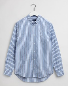 Gant Tech Prep Oxford Nautical Stripe Overhemd College Blue