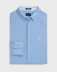 Gant Tech Prep Piqué Overhemd Capri Blue