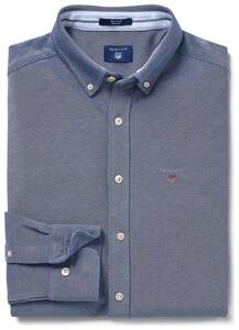Gant Tech Prep Piqué Overhemd Persian Blue