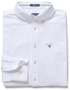 Gant Tech Prep Piqué Overhemd Wit