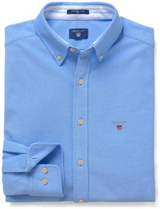 Gant Tech Prep Piqué Shirt Overhemd Capri Blue