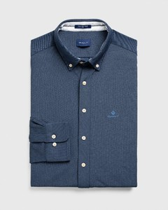 Gant Tech Prep Piqué Shirt Overhemd Marine