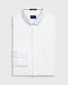 Gant Tech Prep Piqué Shirt Overhemd Wit
