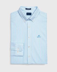 Gant Tech Prep Piqué Stripe Overhemd Capri Blue